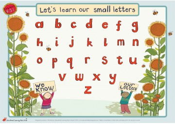 Handwriting for Right Handers (lower case letters)